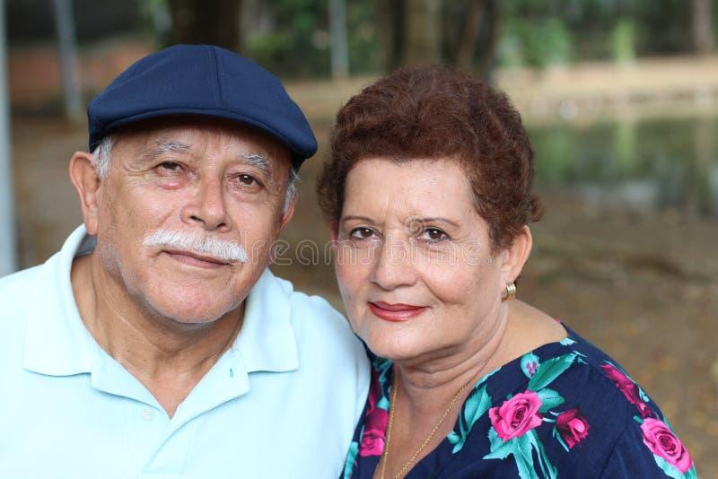 Pares superiores latino-americanos com espaço da cópia foto de stock royalty free