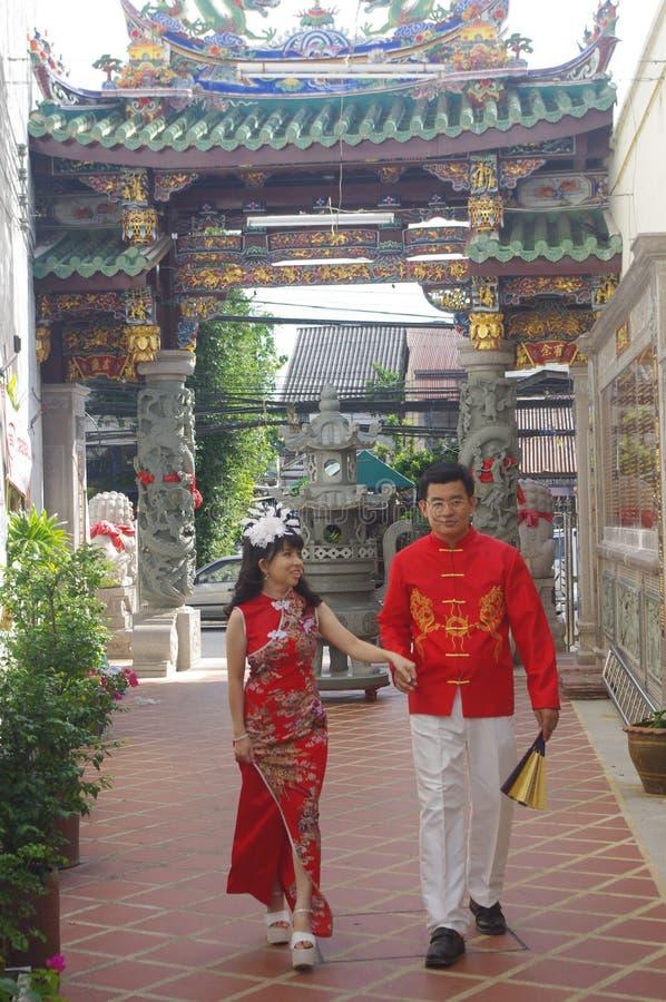 Pares tailandeses novos fotografia de stock
