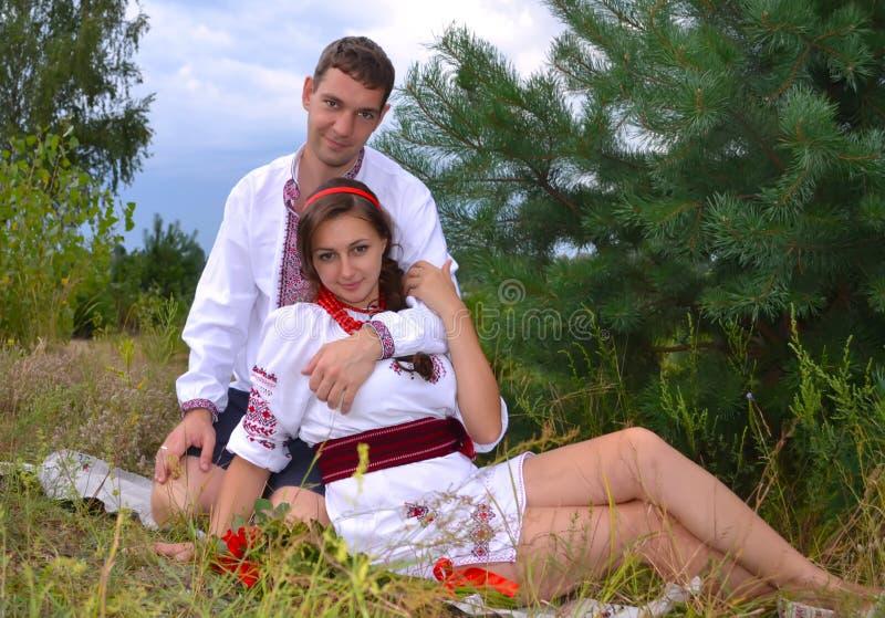 Pares ucranianos fotos de archivo