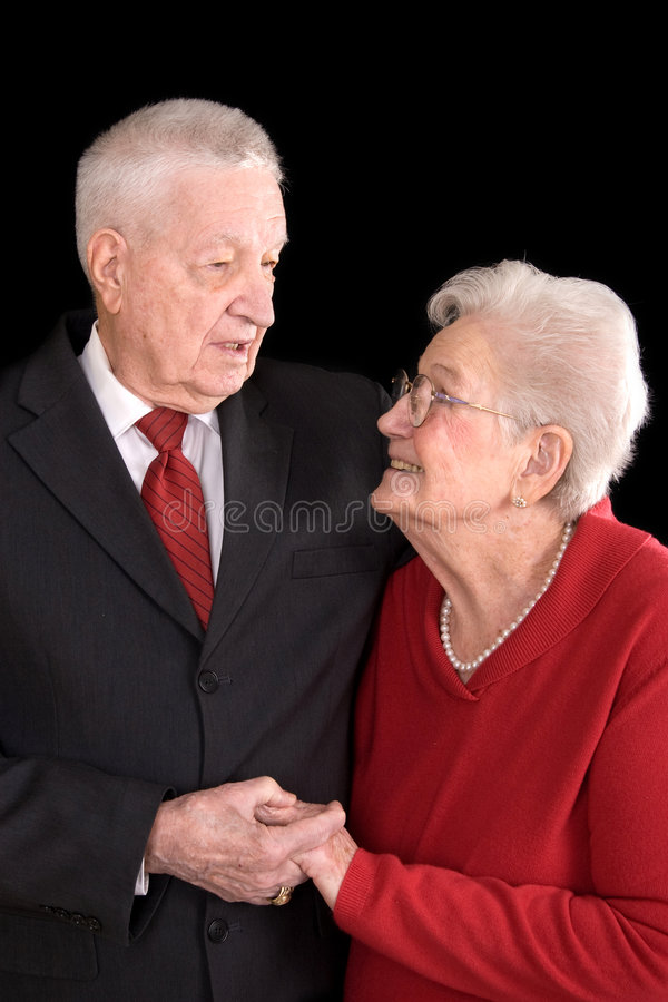Pares velhos no amor fotografia de stock
