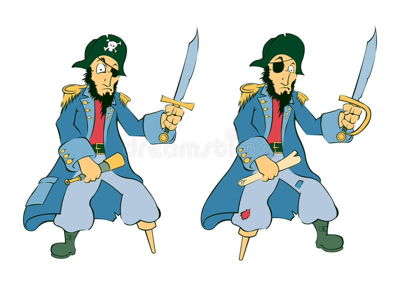 paret piratkopierar royaltyfri illustrationer