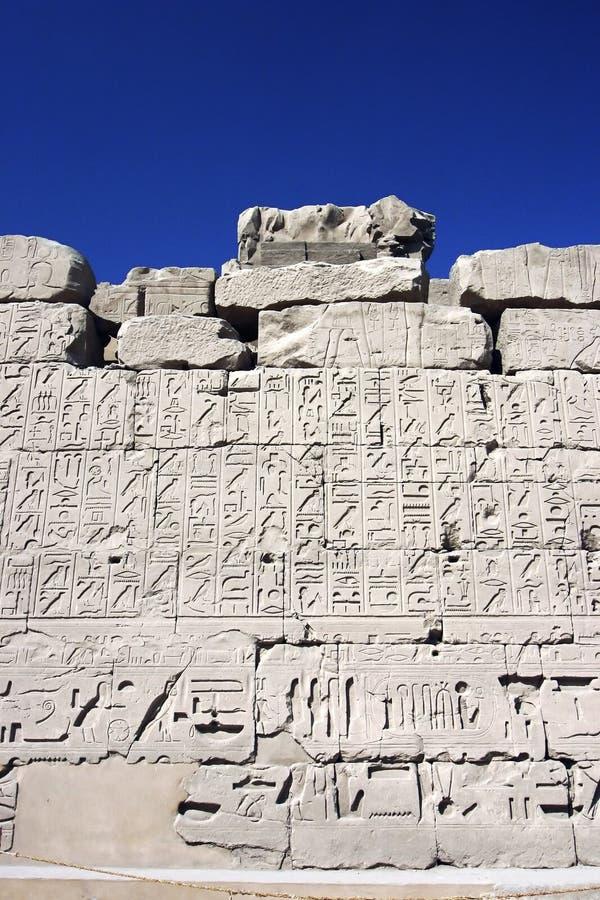 Parete 186 di rilievo nell'Egitto fotografia stock