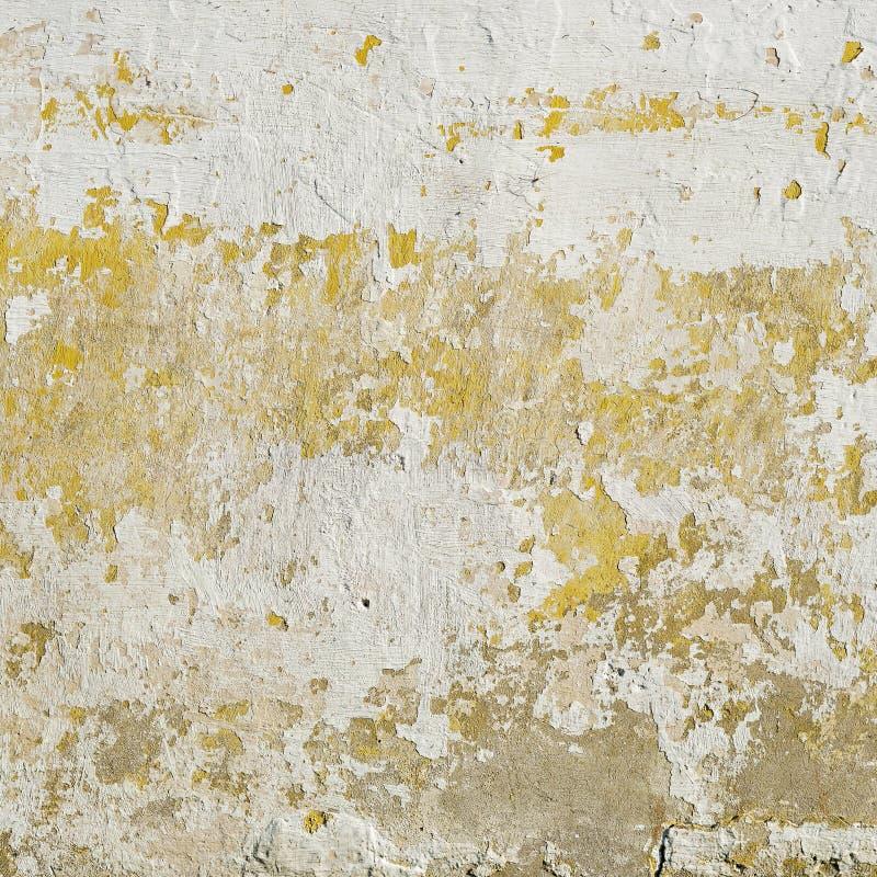 Parete abbandonata dello stucco di lerciume Vernice della sbucciatura sulla parete fotografia stock libera da diritti