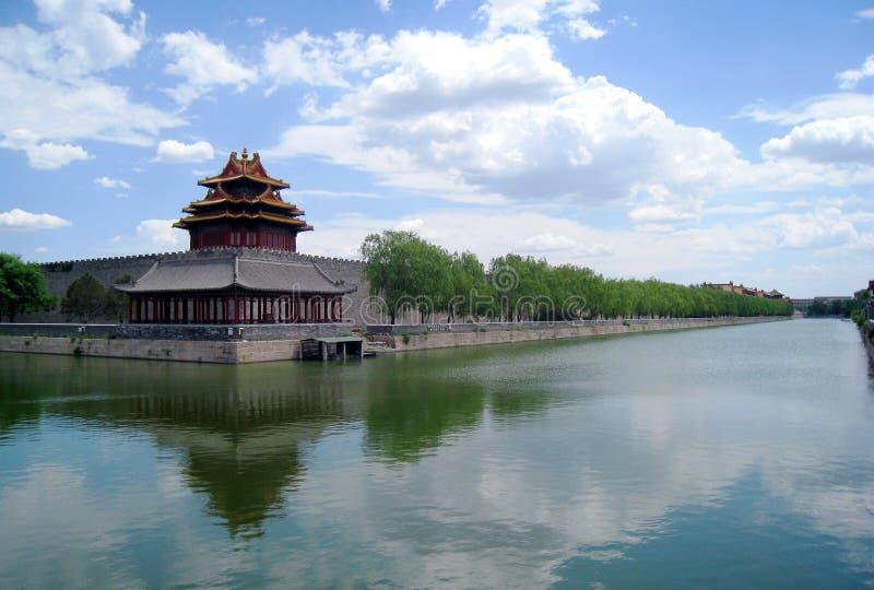 Parete antica cinese della città immagini stock