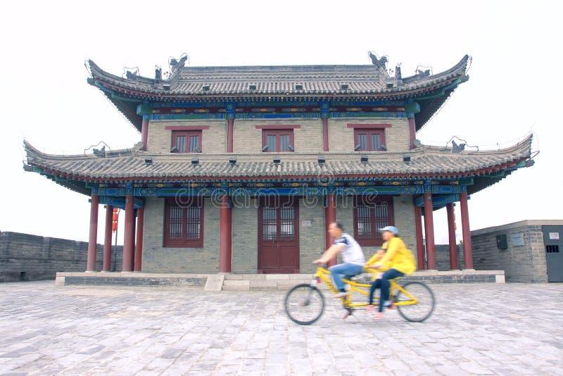 Parete antica della città di Xi'an immagine stock libera da diritti