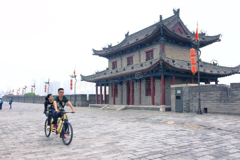 Parete antica della città di Xi'an immagine stock