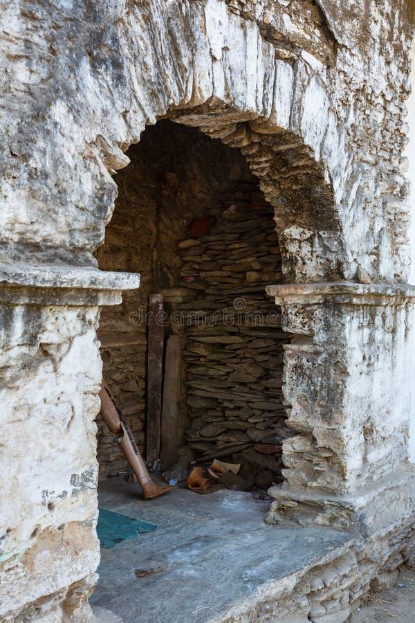 Parete antica Udaipur della pietra fotografia stock libera da diritti