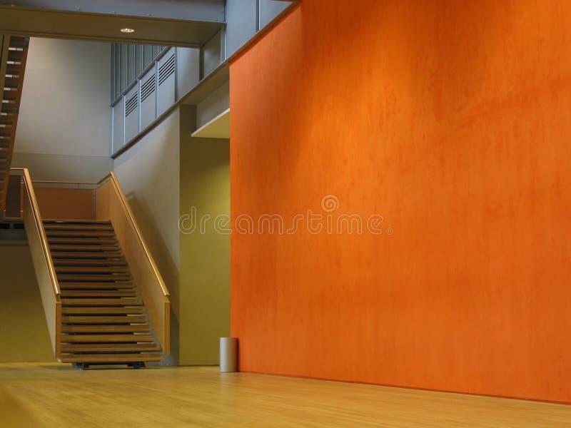 Parete arancione fotografia stock libera da diritti