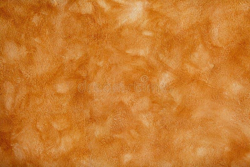 Parete arancione dello stucco immagini stock libere da diritti