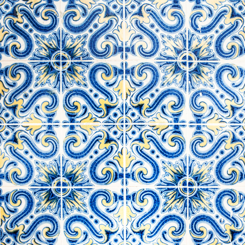 Parete Art Texture/decorati portoghese decorato tradizionale di lerciume fotografia stock libera da diritti