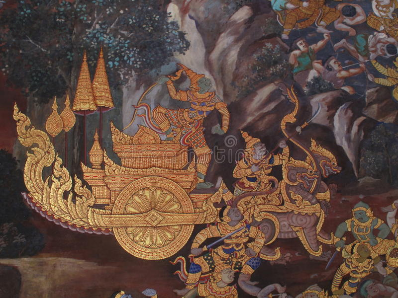 Parete Art Thailand Culture royalty illustrazione gratis