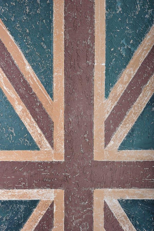 Parete astratta del fondo con la bandiera di Britannici immagine stock