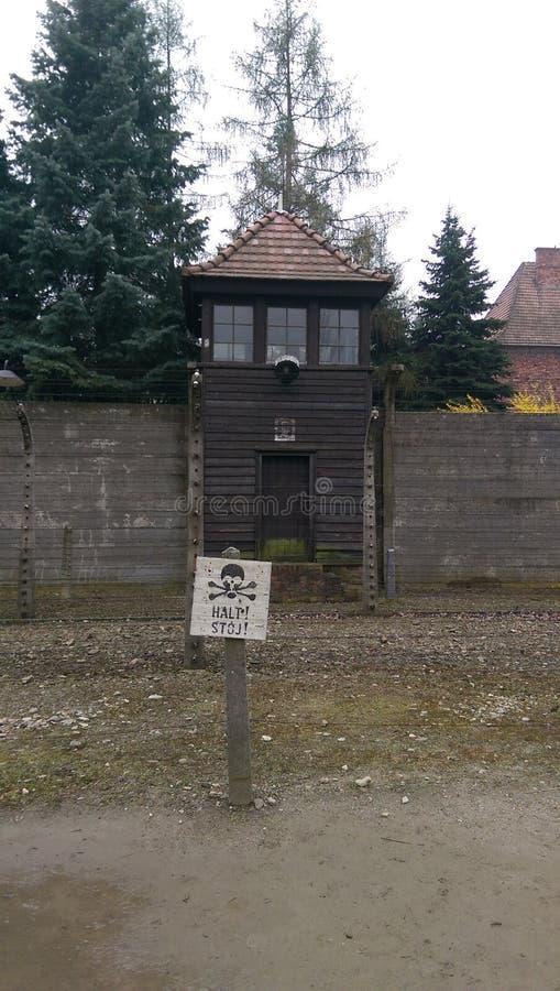 Parete a Auschwitz immagine stock libera da diritti
