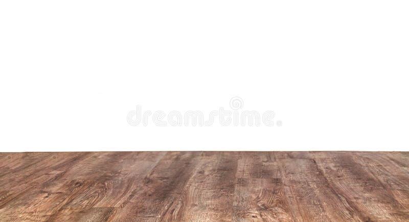 Parete bianca e pavimento di legno fotografia stock