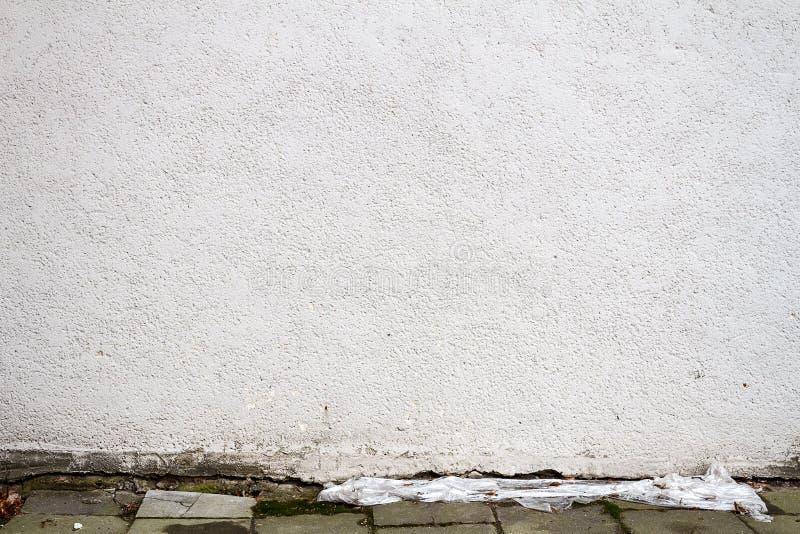 Parete bianca moderna della via del gesso fotografia stock