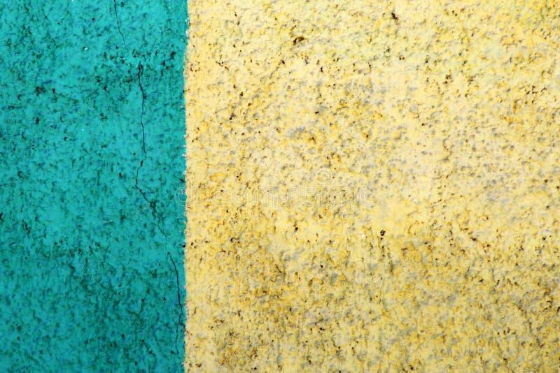 Parete con due colori, gesso decorativo fotografia stock