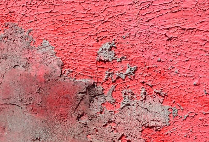 Parete Con La Pittura Rosa Del Modello Della Pittura ...