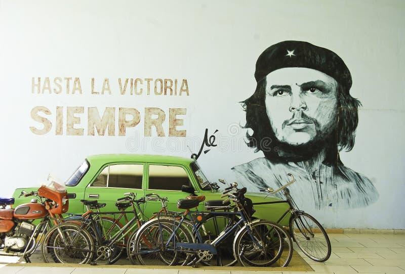 Parete con la progettazione di Che Guevara fotografia stock libera da diritti