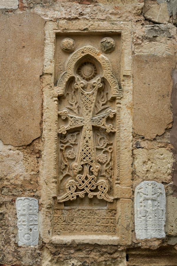 Parete con le impronte degli affreschi antichi immagini stock libere da diritti