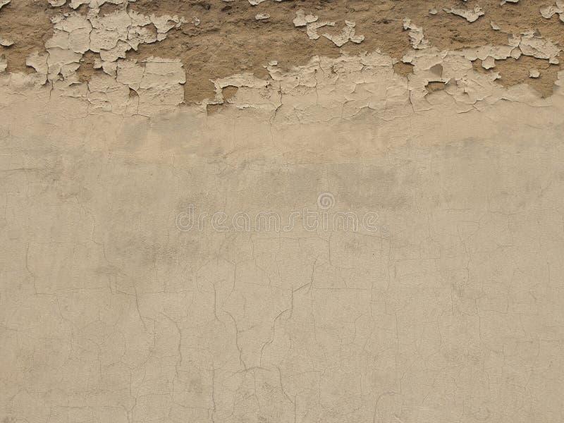 Parete concreta del cemento di lerciume con la crepa, grande per la vostra progettazione e fondo di struttura immagine stock libera da diritti