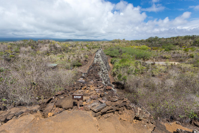 Parete degli strappi, Muro de las Lagrimas, Isabela Island, isole Galapagos, Ecuador fotografia stock