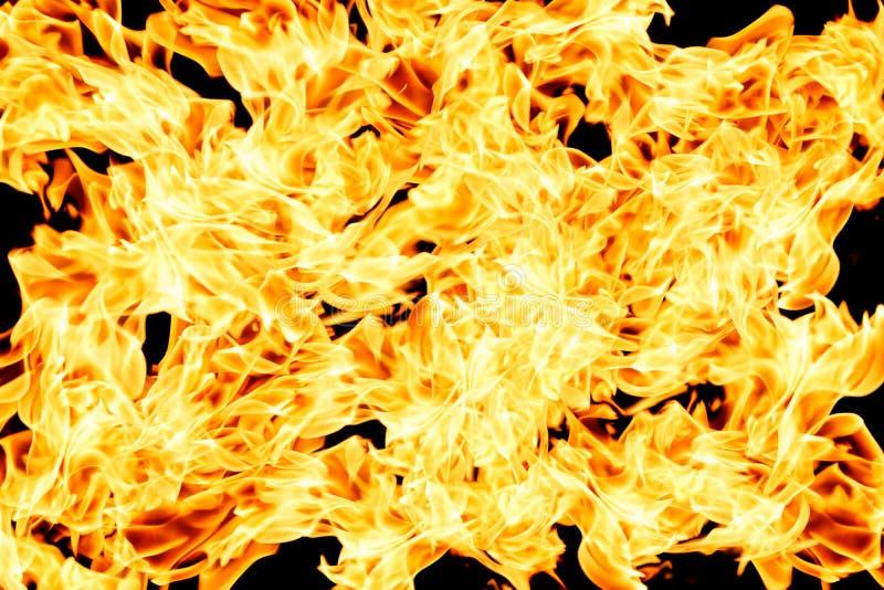 Parete del fondo bruciante del fuoco illustrazione di stock