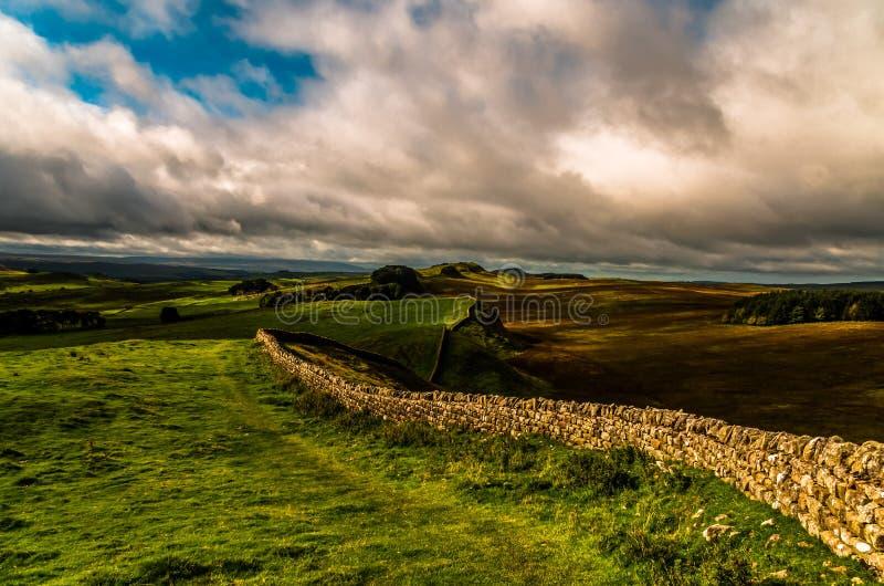 Parete del Hadrian fotografie stock libere da diritti