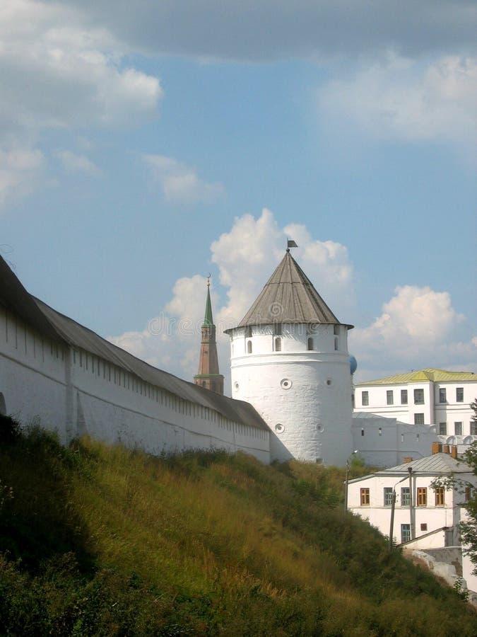 Parete del Kremlin a Kazan immagini stock libere da diritti