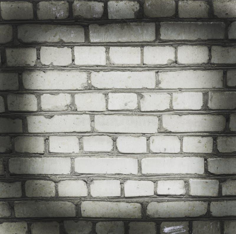 Parete del mattone bianco Bello vecchio fondo vignette immagine stock