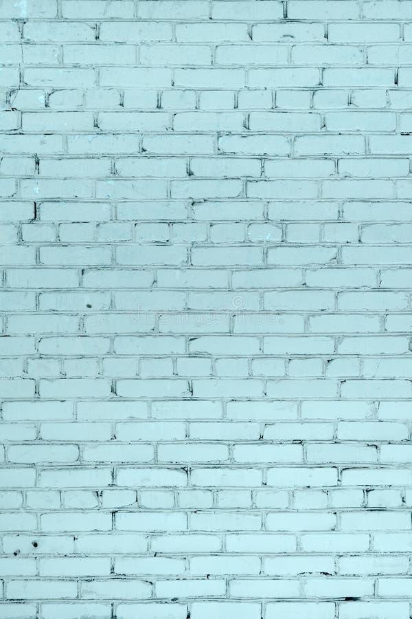Parete del mattone, dipinta in blu-chiaro Bello fondo Posto vuoto fotografia stock libera da diritti
