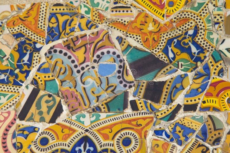 Parete del mosaico delle mattonelle in parco immagini stock