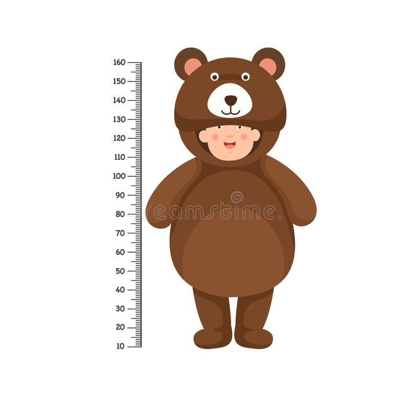 Parete del tester con il costume dell'orso royalty illustrazione gratis