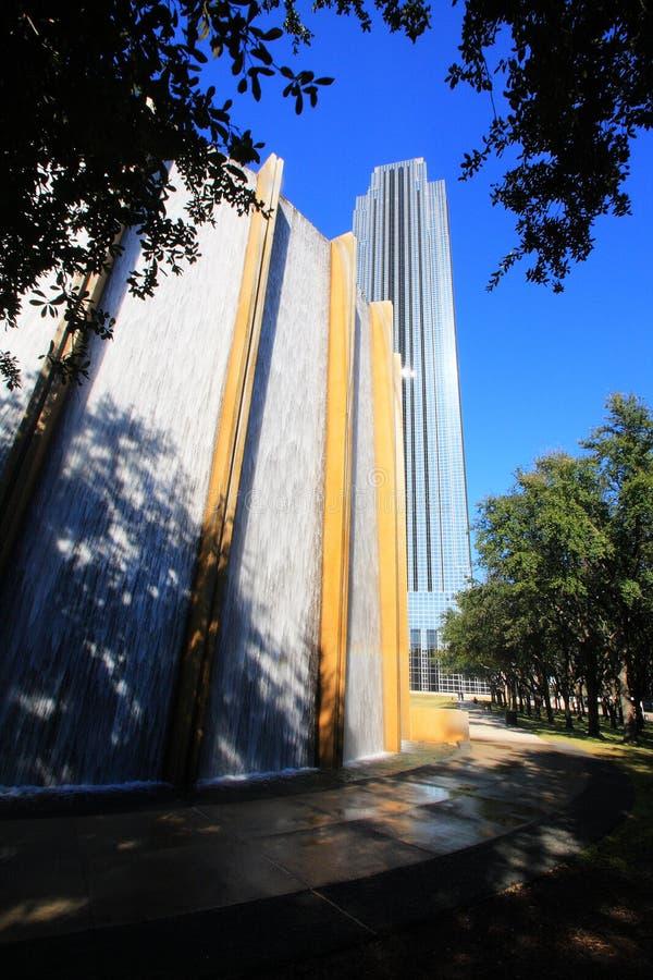 Parete dell'acqua di Houston fotografie stock