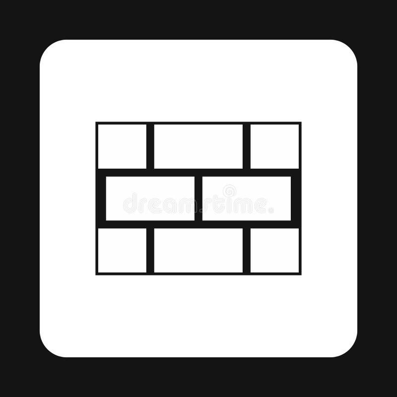Parete dell'icona dei mattoni, stile semplice royalty illustrazione gratis