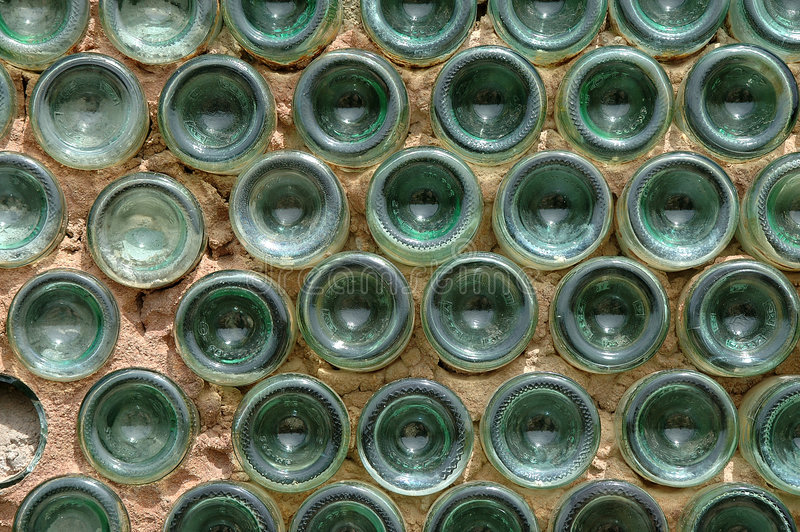Parete della bottiglia immagini stock