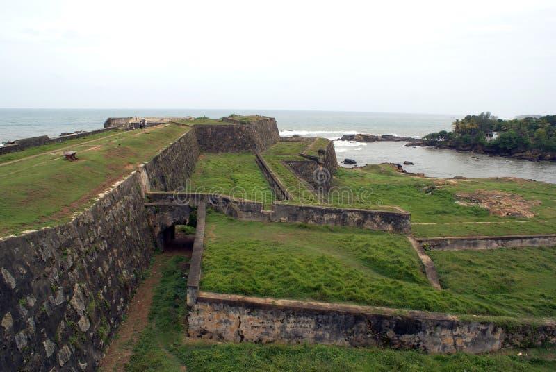 Parete della fortificazione a Galle immagine stock
