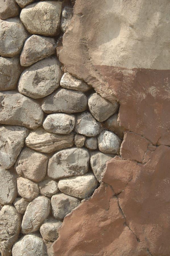 Parete della pietra e dello stucco immagine stock