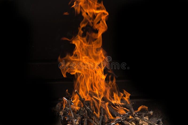 Parete delle fiamme fotografie stock