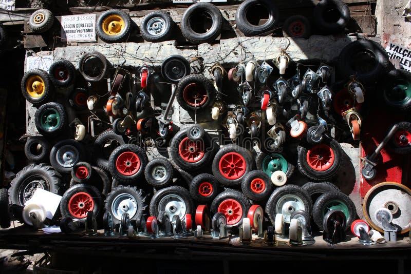 Parete delle ruote fotografia stock libera da diritti