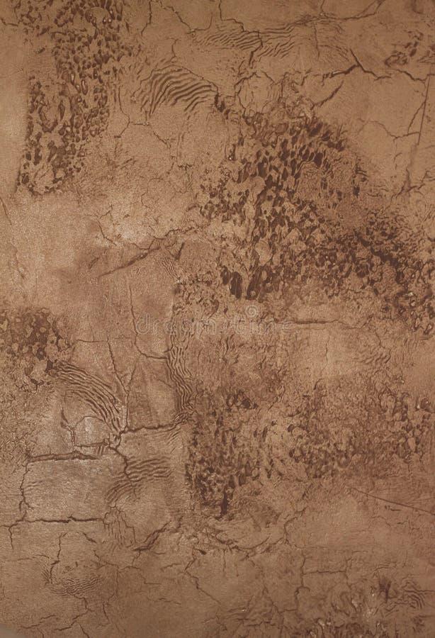 Parete dello stucco verniciata Faux immagine stock