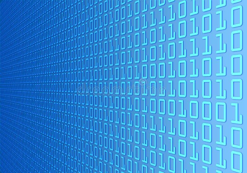 Parete di codice binario illustrazione vettoriale