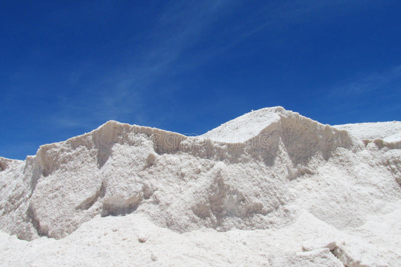 Parete di formazione del sale in Uyuni fotografia stock