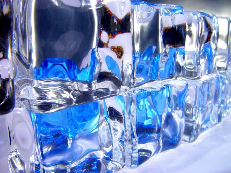 Parete di ghiaccio fotografia stock