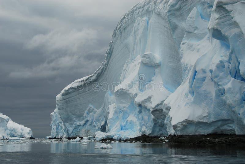 Parete di ghiaccio immagini stock libere da diritti