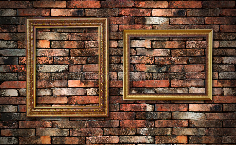 Parete di Grunge e due blocchi per grafici immagini stock libere da diritti