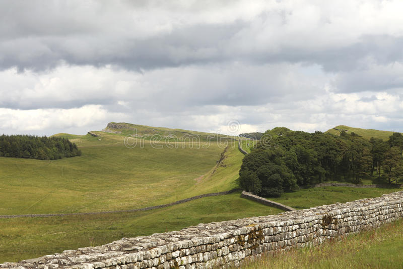 Parete di Hadrian immagini stock libere da diritti