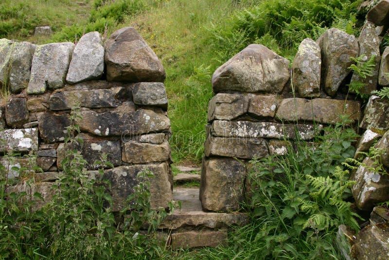 Parete di Hadrians in Scozia fotografia stock