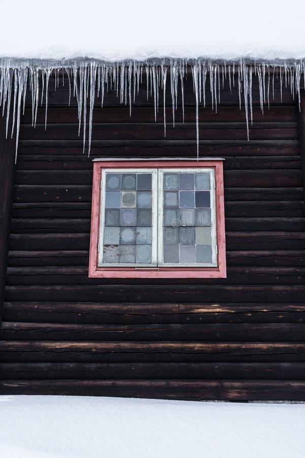 Parete di inverno in Norvegia fotografia stock libera da diritti