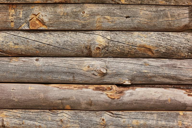 Parete di legno del ceppo fotografia stock