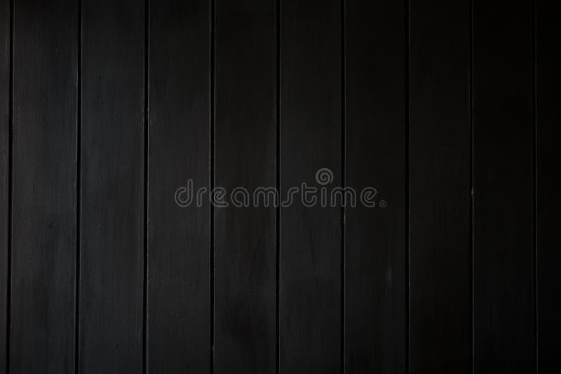 Parete di legno nera fotografia stock